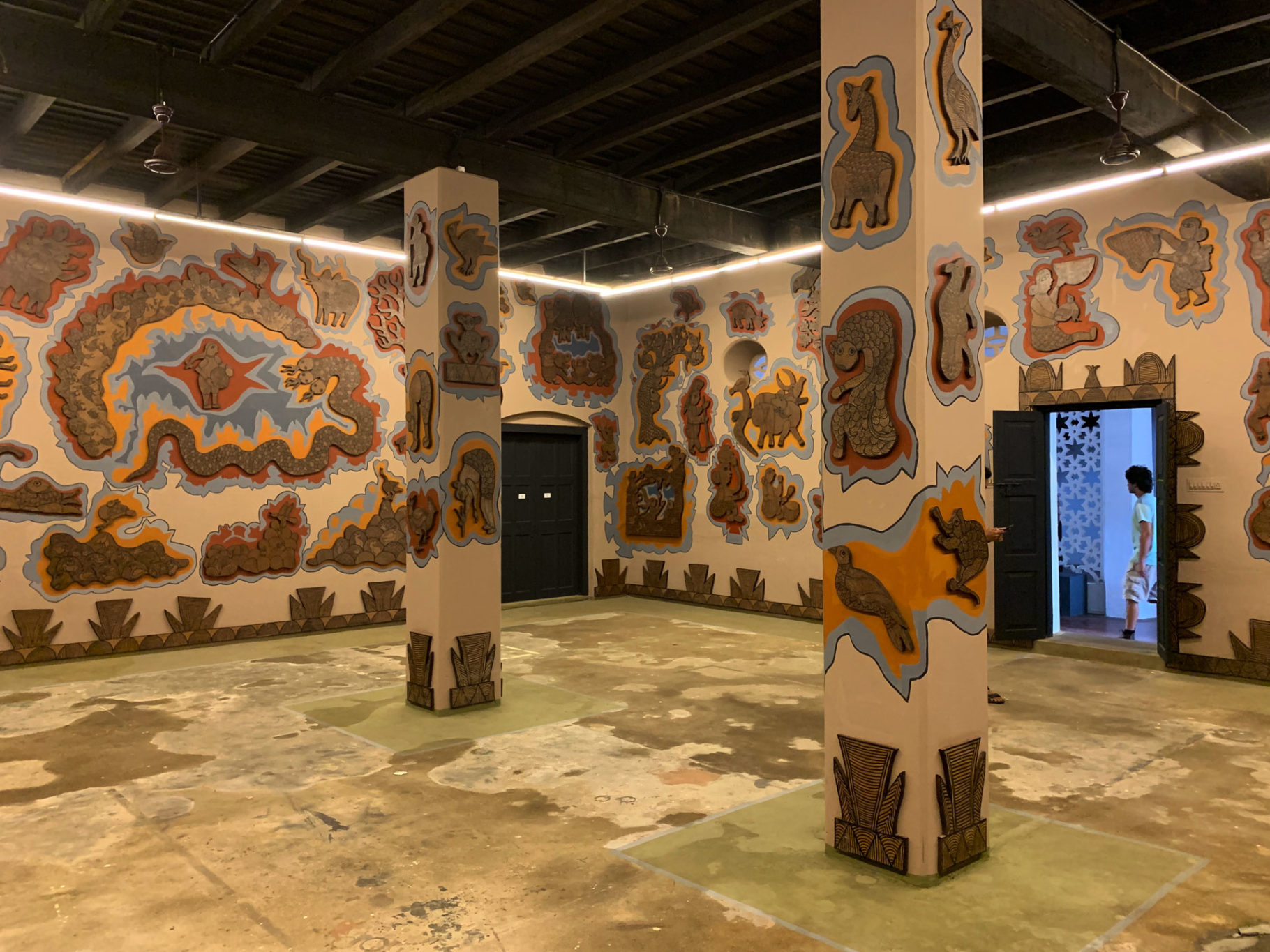 Dus Motin Kanya and Jal Devata by Durgabai and Subhash Vyam at Kochi Biennale, Aspin Wall, Fort Kochi