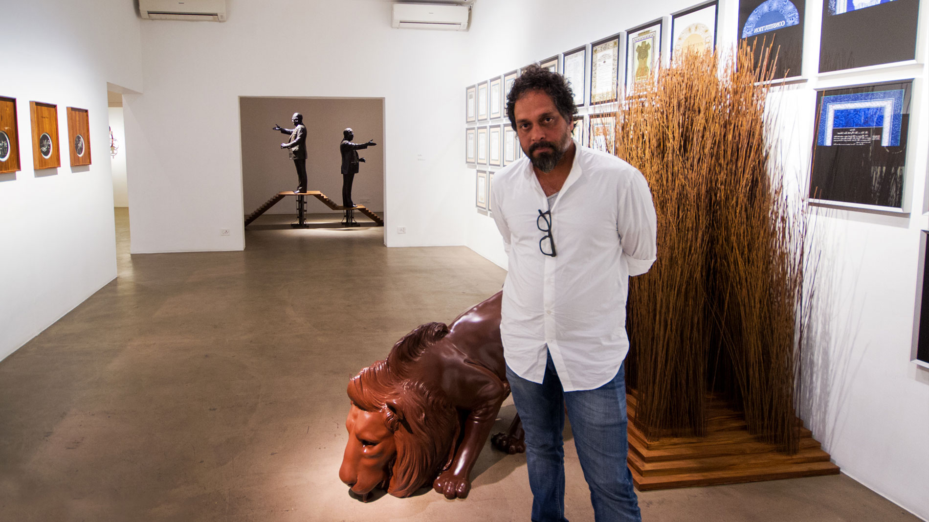 The Dissidence Doctrine He has been at the forefront of art activism in the region. In the past decade, Riyas has been a key catalyst in increasing the socio-economic currency of arts in India in ways deemed impossible by market experts. Our team visited his solo show 'Holy Shiver' at Vadehra Art Gallery.