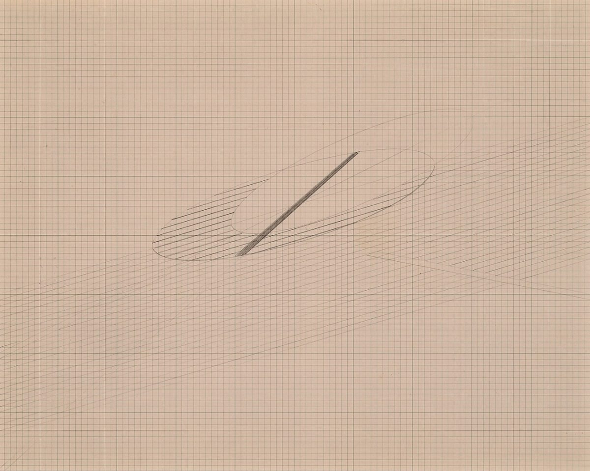 Nasreen Mohamedi, Untitled (1980s) Graphite on graph paper