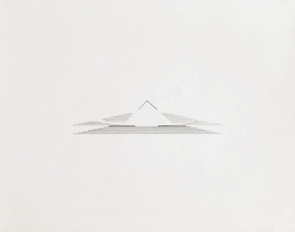 Nasreen Mohamedi, Untitled (1980s) Ink and graphite on paper on board